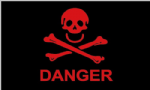 Pirate Danger Large Flag - 5' x 3'